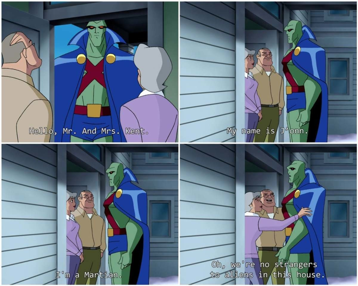 The DCAU is the best. .. people underestimate the love and compassion of small town folks.