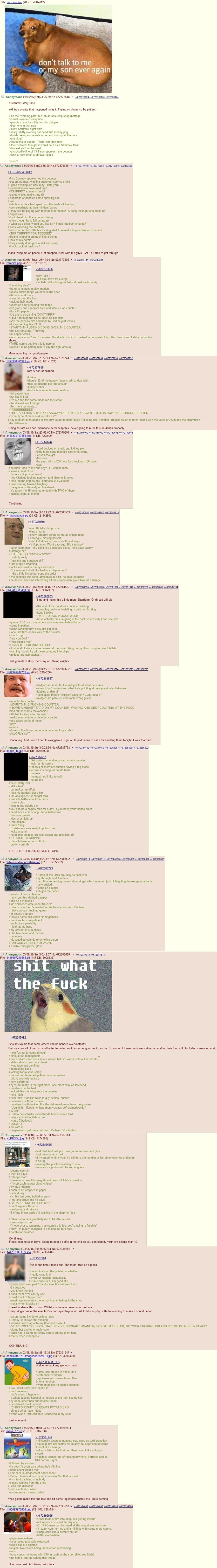 The Legend of Chippo. join list: Chanoholic (319 subs)Mention History.. Holy this is one of my favorite greentexts of all time. Brendaniel did a reading as well