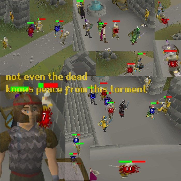 the life of a varrock guard. oc ah the childhood memories of slaughtering the protectors of the city in cold blood, slaying every recruit that comes after them,