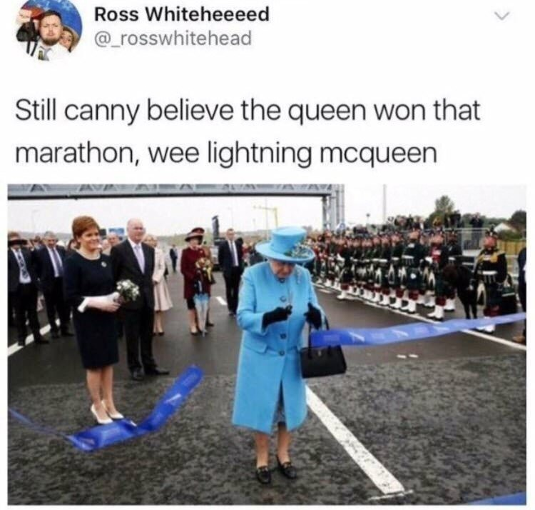 """The Little Immortal Lady. Forever may she reign.. """" oy ya got ribbon cutting loicense""""?"""