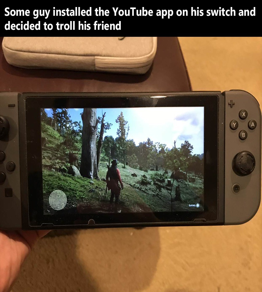 The old bait and switch™. join list: VideoGameHumor (1688 subs)Mention History.. I didn't know switch supported youtube. Or am I thinking of something else