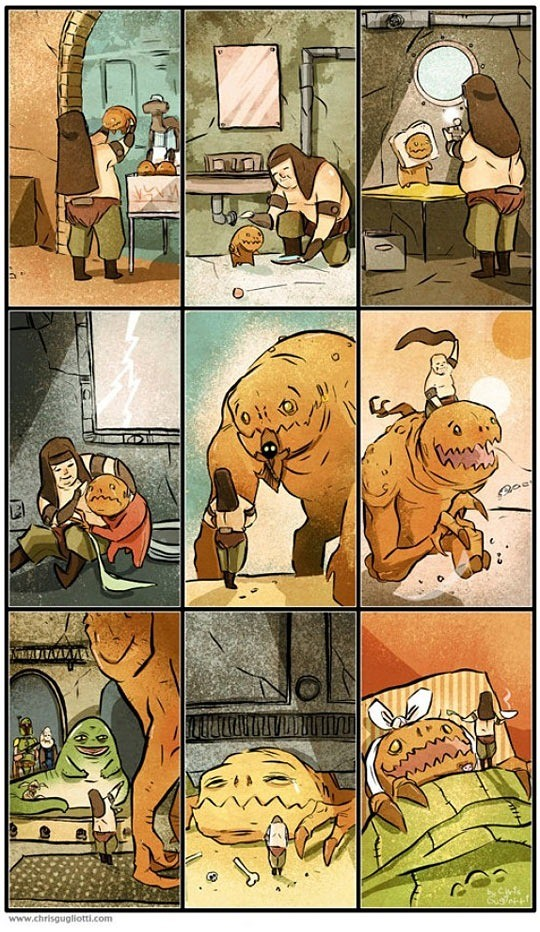 """""""The Rancor"""". .. This is why the jedi needed to end"""