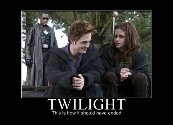 """""""the right"""" Twilight ending. . TWILIGHT This """"ii; how it should have awed"""