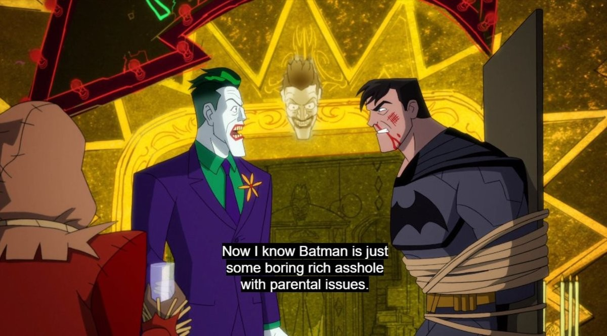 the show is good. join list: Cartoonsandlolis (1709 subs)Mention History.. NGL I think it'd be funnier if there wasn't any cursing, the joker just genuinely wants to know when he's gonna get his car.