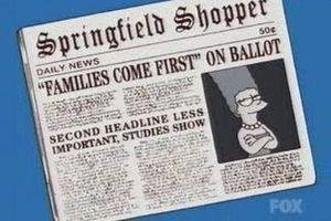 The Simpsons Comps: Sign and Headlines 3. Source: Simpsons.. gotta love it when your city gets mentioned and parodied in a big show like the simpsons