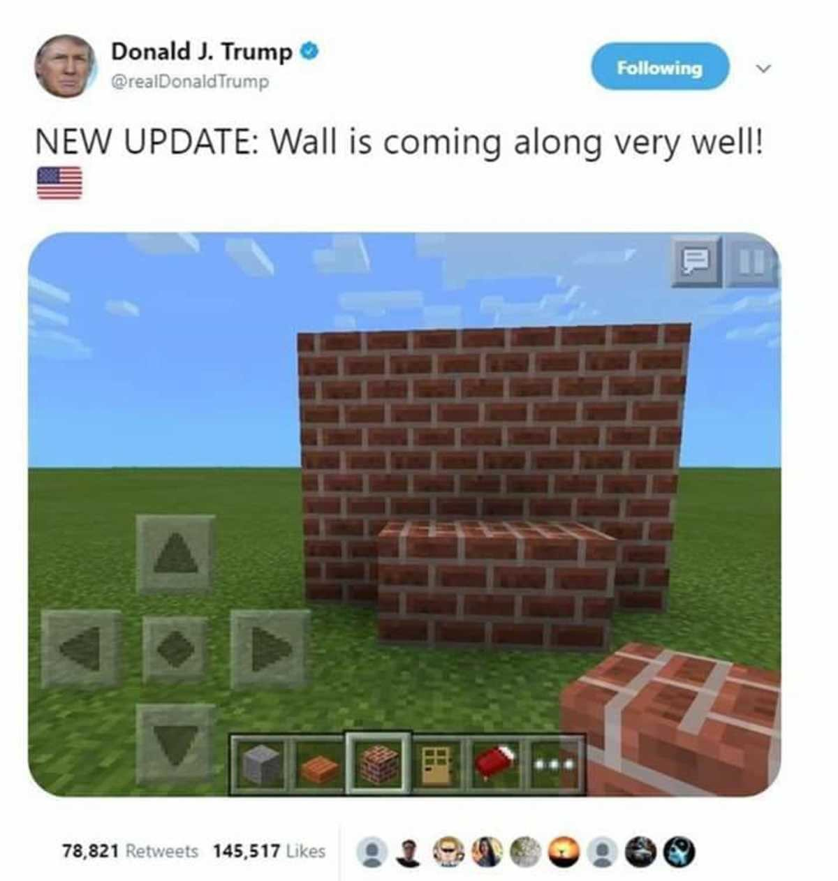 The Wall is coming along nicely. . NEW UPDATE: Wall is coming along very well! ial.. >not building a bedrock wall