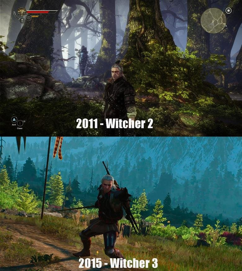 The Witcher 3 downgrade. BONUS Blood on water, great water effects, brutal combat that felt heavy No more blood on water and ground, blood toned down heavily, c