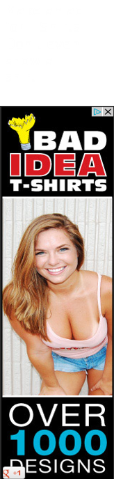 Ads these days.. This was an ad here on FunnyJunk.... Make an ad Don' t even show in T- shirt... irs, Florri). I think that t-shirt is perfect for her