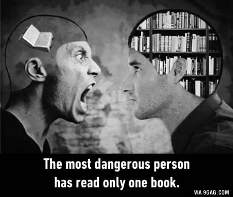 Think about it .... . The most person has read only one book.. >implying you have to read anything to actually be smart >implying reading more makes you less of a goose by default you can read all the books in the wor