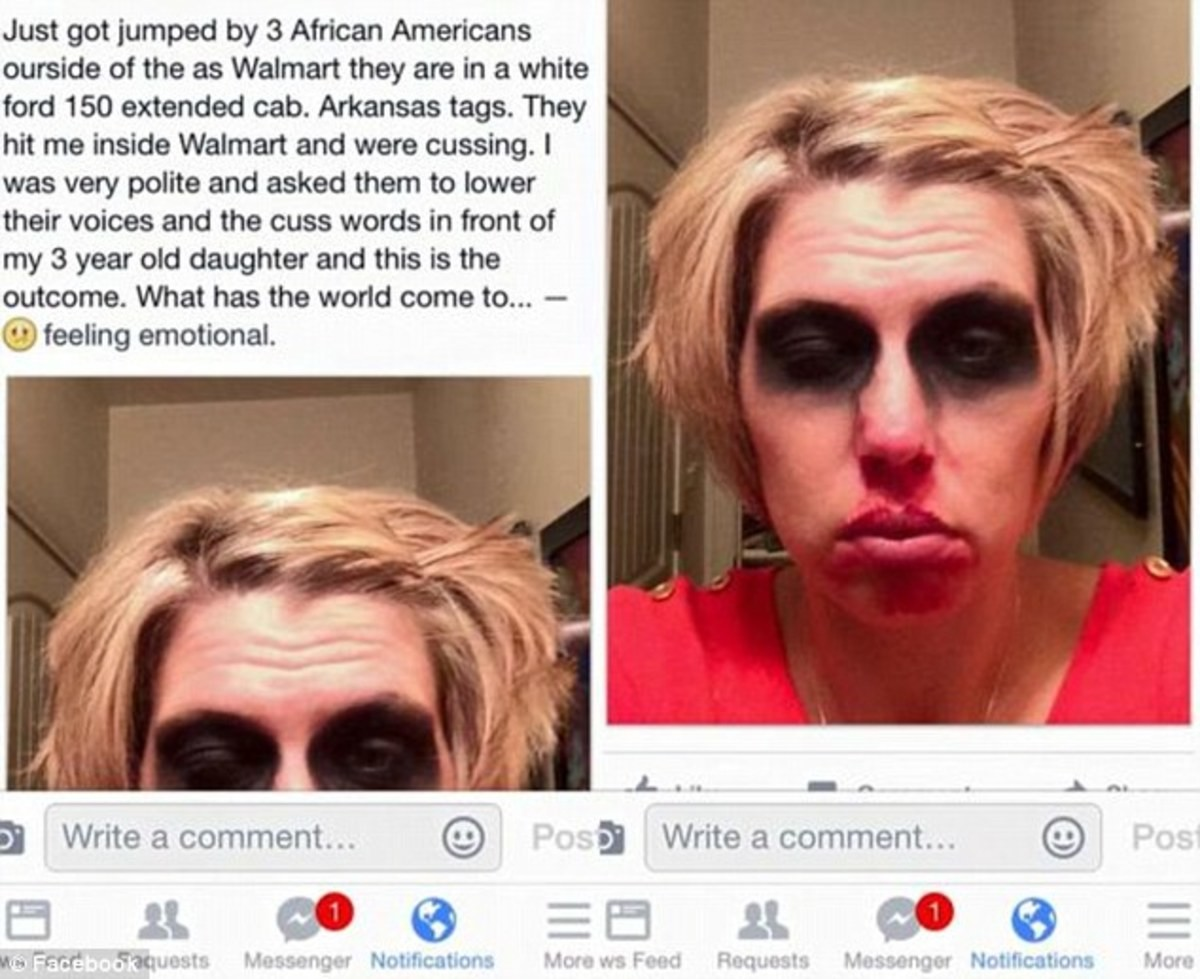 this channel loves fake hate crimes rite?. .. I'm sure this definitely happened and the attackers just applied the eye shadow as part of their assault.