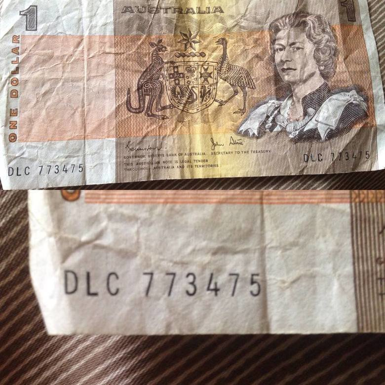 Those who forget history.... ...are doomed to repeat it. The Australian $1 and $2 notes were introduced in 1966 and phased out in 1988. I came across this one a