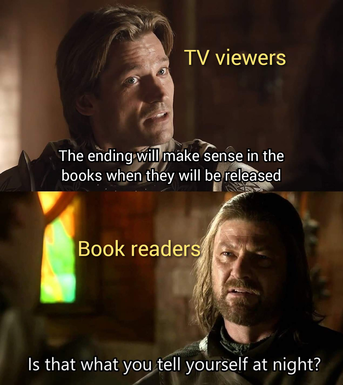Thrones. .. See, the truth if what happens is that in dedication to his love for unexpected upset character death, Martin will release the next book and then die before any