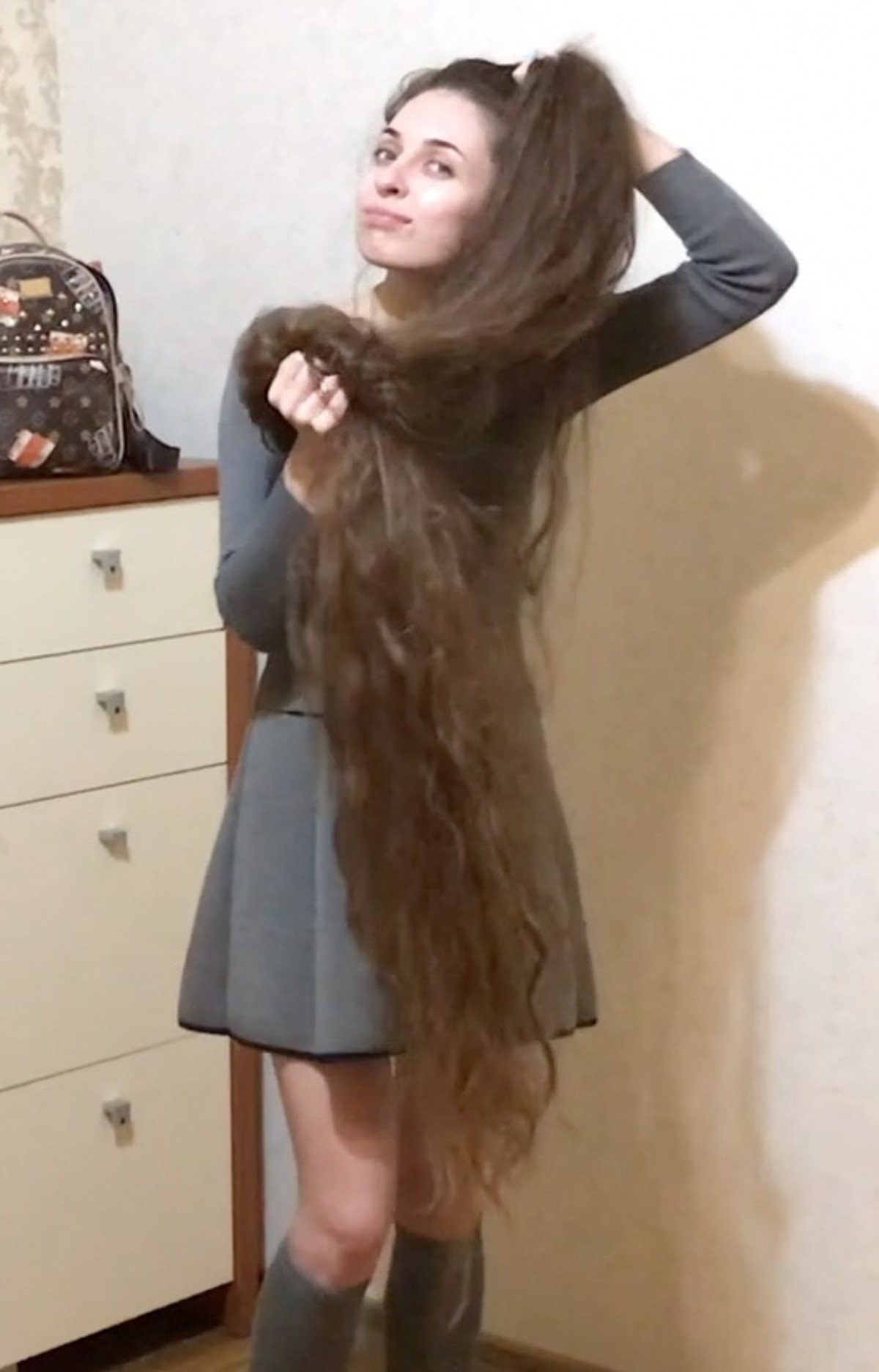 Too much hair?. .. Rapunzel fetish, achieved.