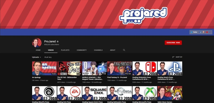 towering omniscient Louse. what the frick projared deleted his apology video! does anyone have it downloaded?!?!.