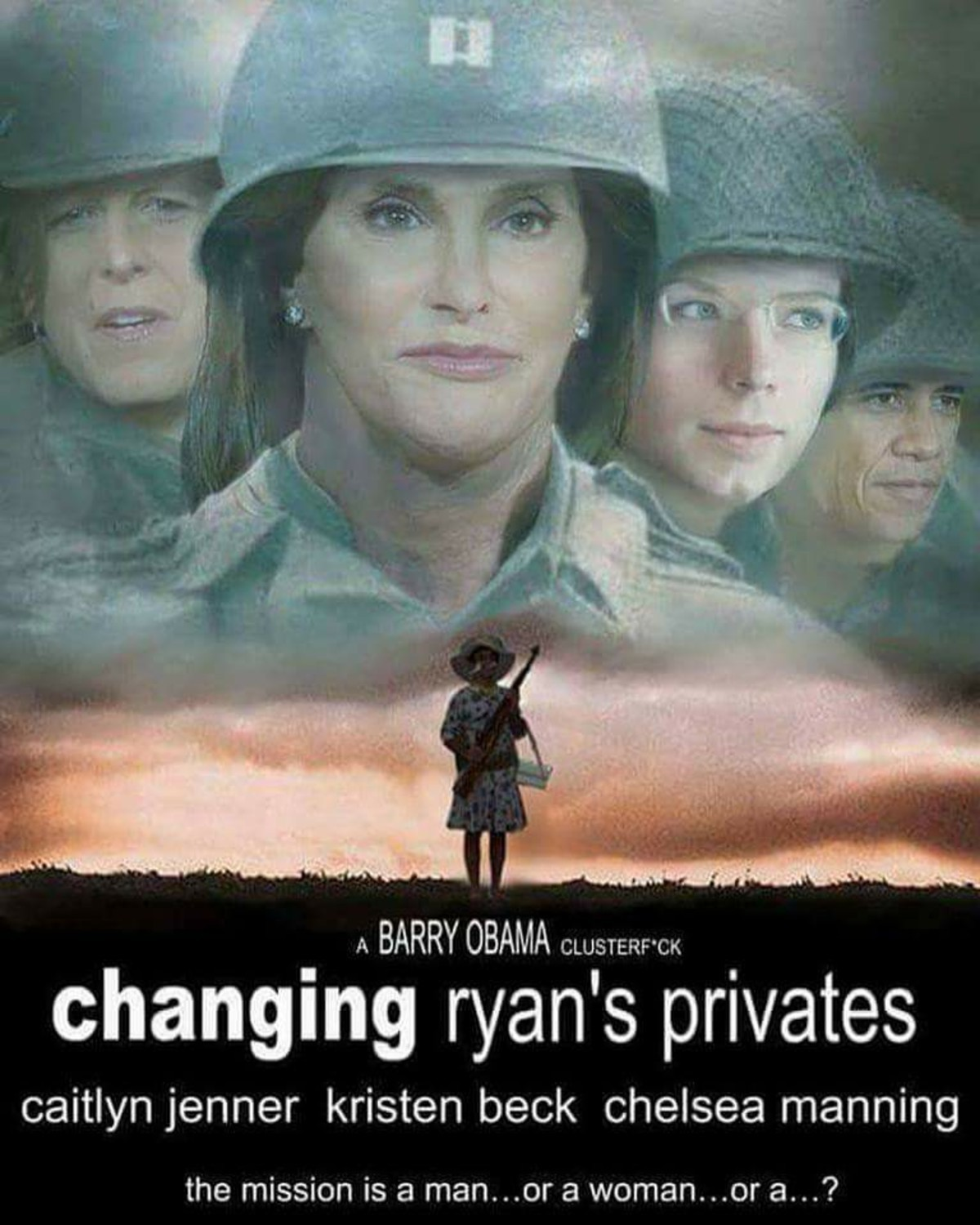 Transgendered Military Rescue Escapade. Stolen from Facebook. changing ryan' s privates caitlyn jenner kristen beck chelsea manning