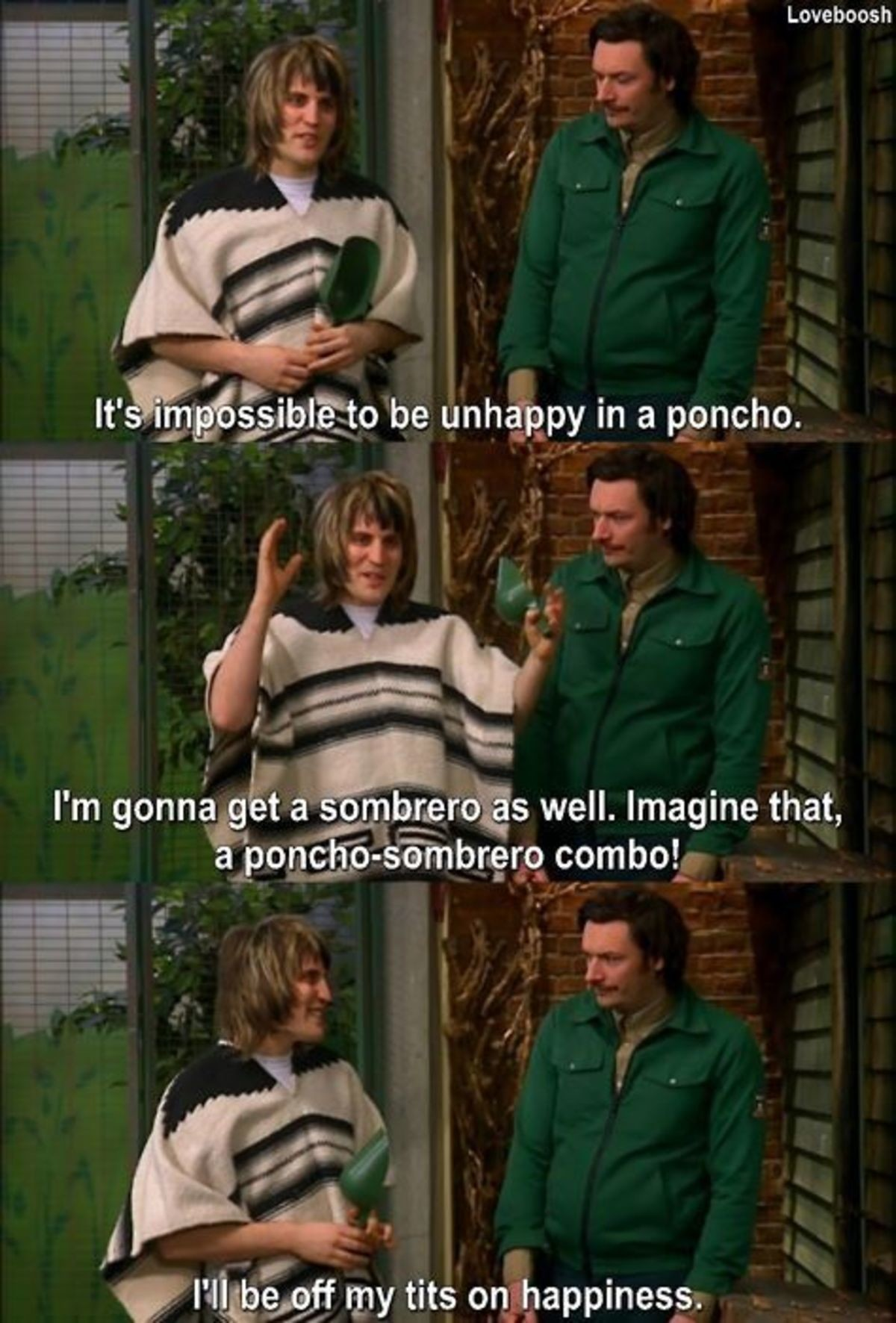 True Happiness. The Mighty Boosh... Charlie episode, right?