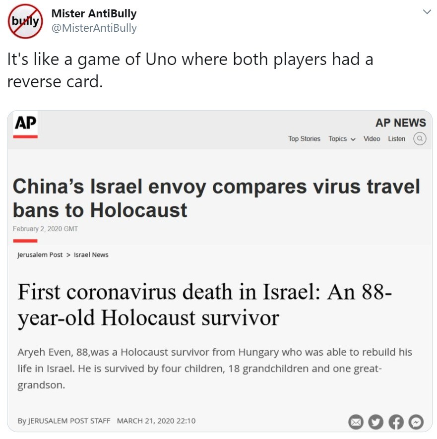 unpleasant obscene Dragonfly. .. >be china >literally holocausting muslims >making them eat pork for the luls >get some sweet and sour chicken pox virus >Israel closes borders &g