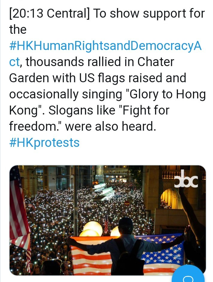 USA and Hong Kong!. .. Fight for freedom