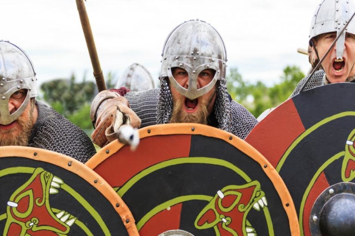 vikings. join list: StabbingTime (527 subs)Mention History.. Norwegians defending their last stores of butter during the Norwegian Butter Crisis, 2011 (colorized)