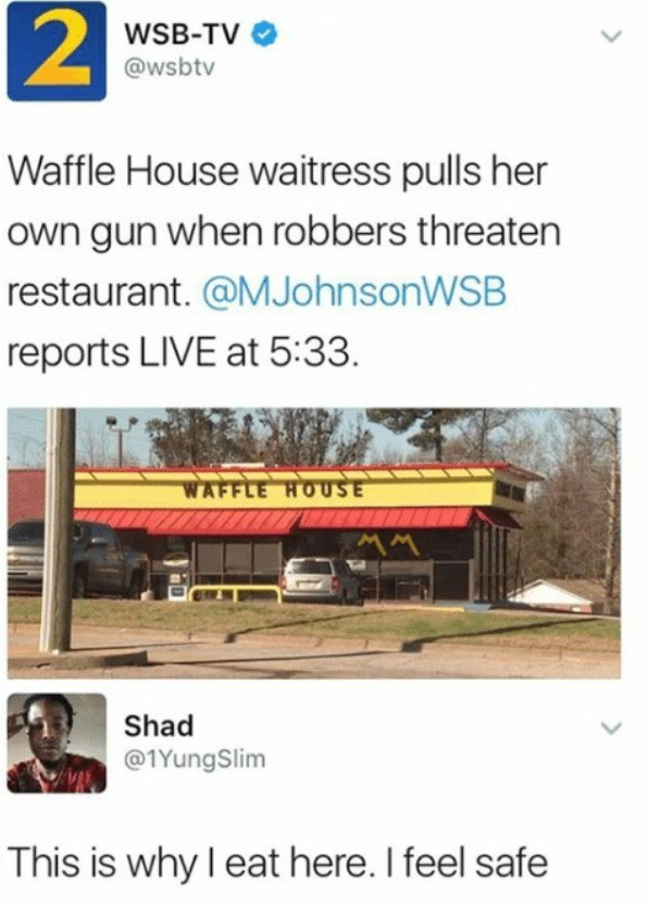 Waffles. .. Those silly 13%ers
