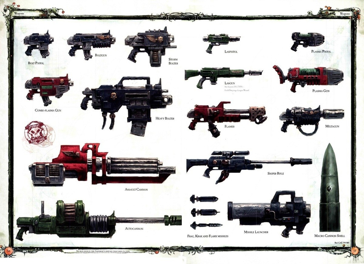 Warhammer 40K Guns. Time for a compilation of Warhammer 40K guns, followed by a discussion in the comments about whether or not the 2nd Amendment gives me the r