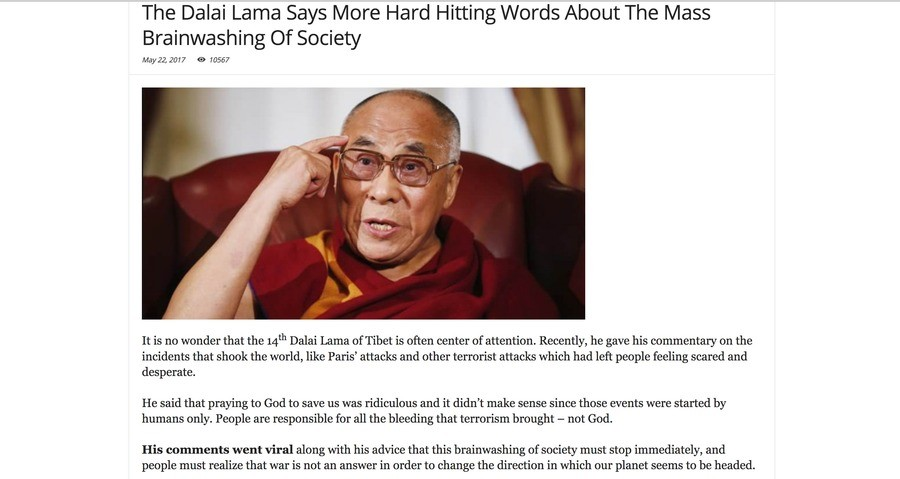 """We Are Too Confused."". . The Dalai Lama Says More Hard Hitting Words About The Mass Brainwashing Of Society can qty some It is no wonder that the 14th Dalai La"
