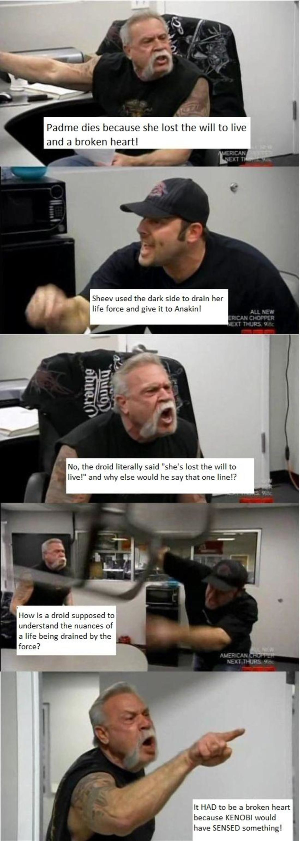 WE CAN'T LOSE THIS ARGUMENT ANYMORE. join list: StarWarsStuff (272 subs)Mention History join list:. Broken Heart Syndrome is real. There was both a House and Scrubs episode on it. Its when you endure psychological trauma so severe that your brain systematicall