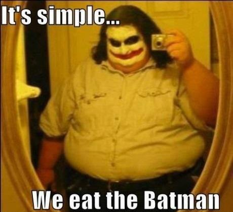 We eat the Batman!. . eat the Batu'