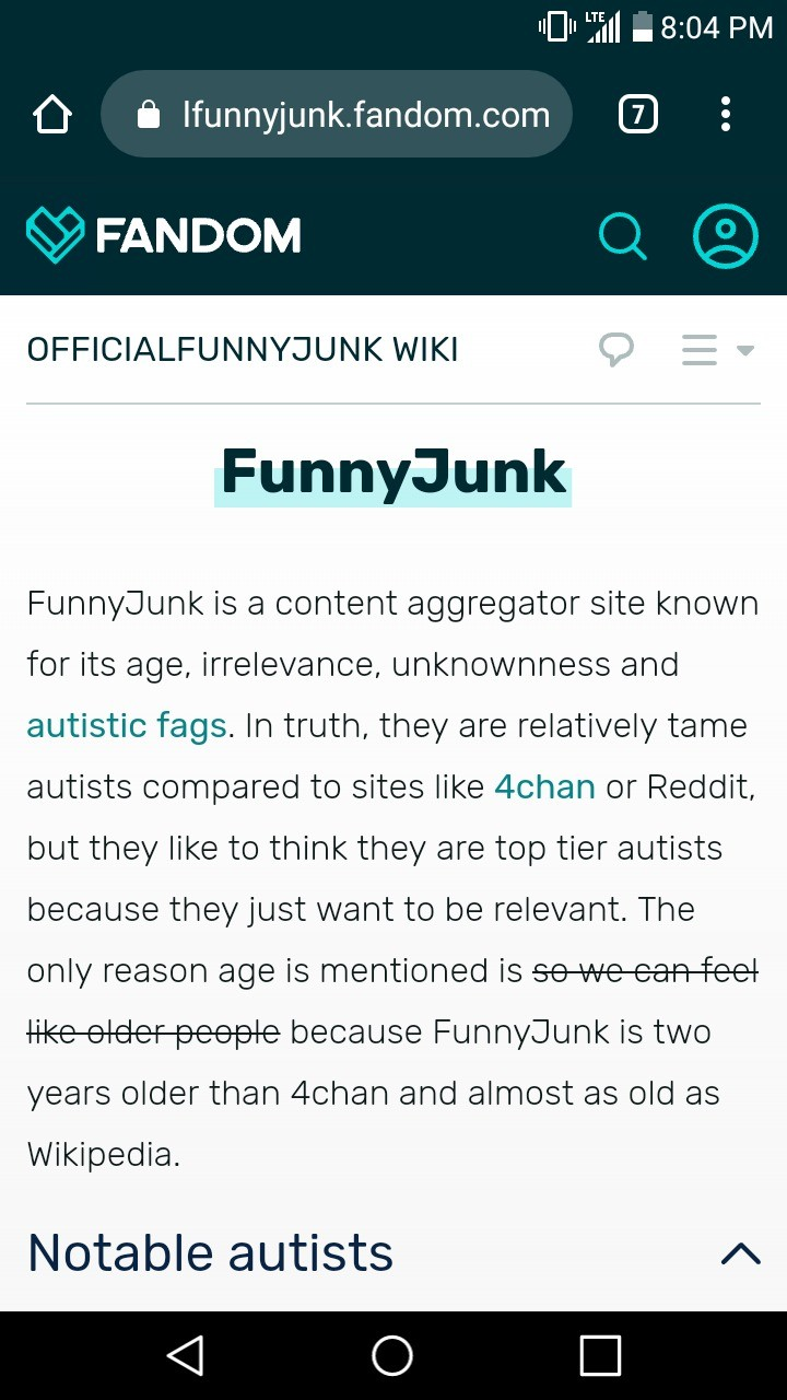 "We have a wiki?. .. ""Notable Autists"" you mean, user base?"