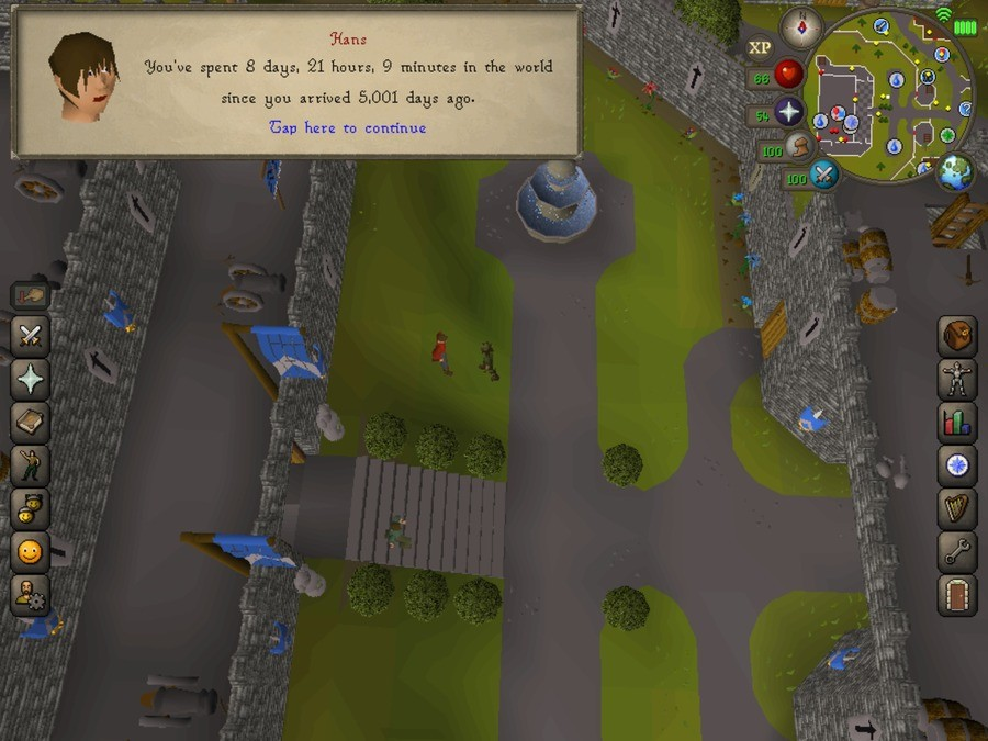 What have I become?. My childhood friends... Everyone I know goes away, in the end. And you can have it all, my empire of party hats... How old is this screen? OSRS hasn't been out for more then 4 years, and Runescape 3 went to new graphics..., 7 or 8 years ago?