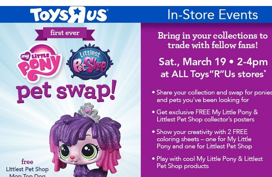 What the where they thinking. Calling it now, it's gonna be 80-90% bronies. Events Bring in your collections to trade with fellow fans! Sat., March 19 Ii at ALL