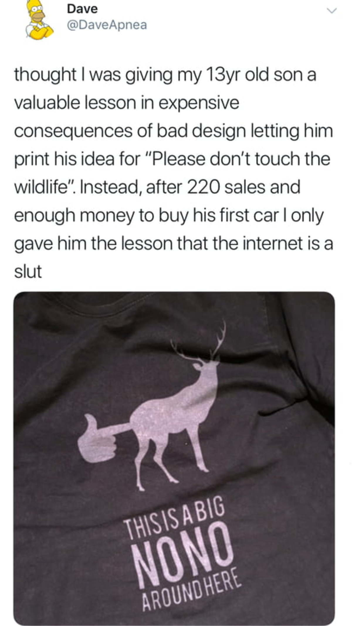 When your son is an entrepreneur.. .. Ehhhhh the internet is a fickle bitch like that, she can give generously one moment and then the next rip the flesh from your bones and leave you nothing more t
