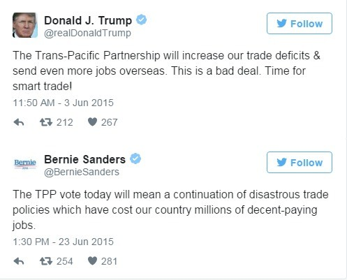 Who Wore It Better?. . Donald J. Trump '15 . Follow The Partnership will increase our trade deficits 3. send even more jobs Overseas. This is a bad deal. Time f