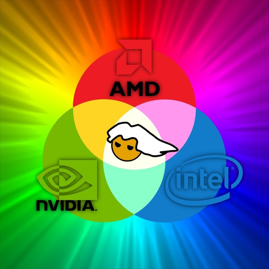 "Why RGB is so popular. The Holy trinity.. ""Hey what graphics card do you use"" ""Yes"""