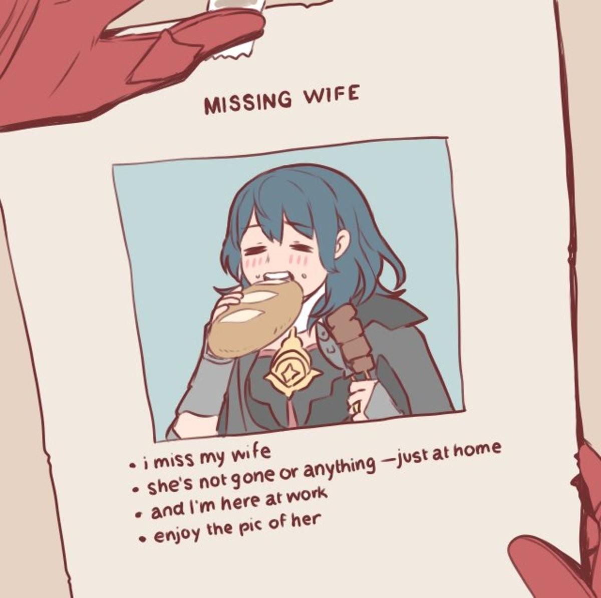 Wife. .. I enjoy your wife