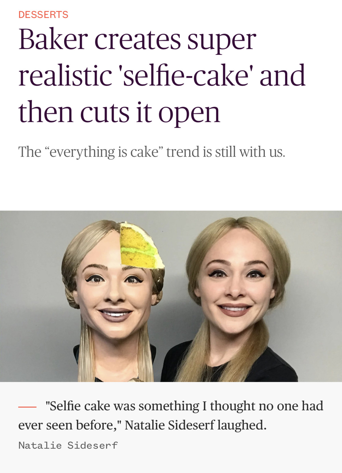 wild contraceptive kind Turtle. .. Her face looks fake enough that it is easy to reproduce as cake. uncanny valley.