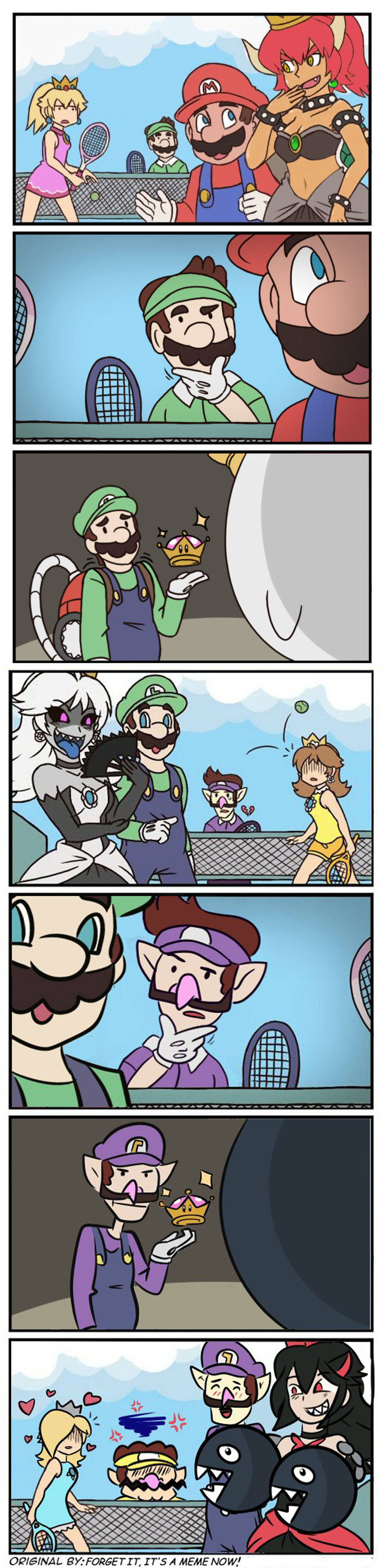 woebegone attractive infamous Cattle. .. Waluigi proving to be a man of culture