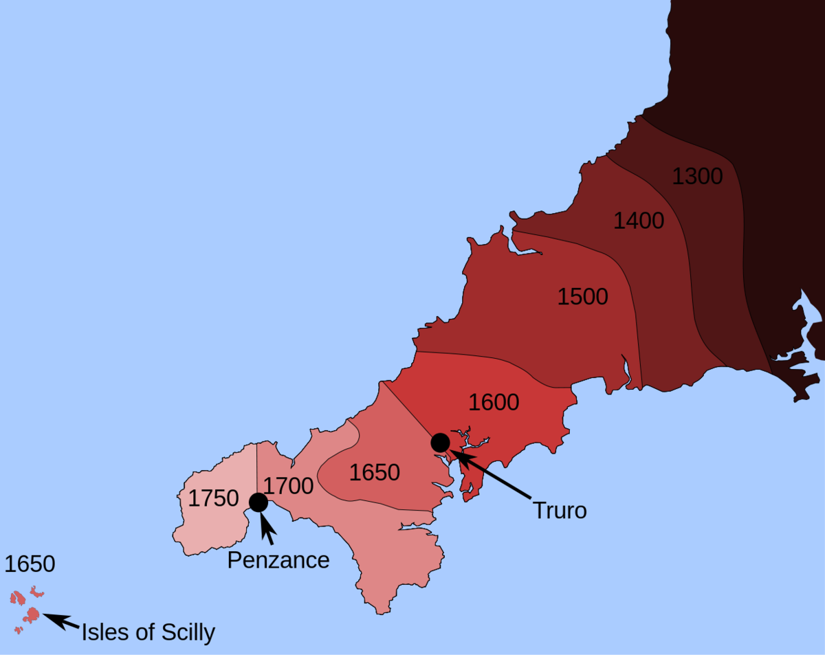 Year of Removal of the Cornish Language. .