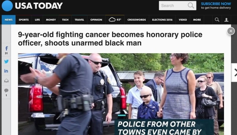 Young kid shoots unarmed black man shoot. istruedisdidhappen. Hews wears LIFE MONEY we amnion CD of were ween More / l 1 fighting cancer becomes honorary police
