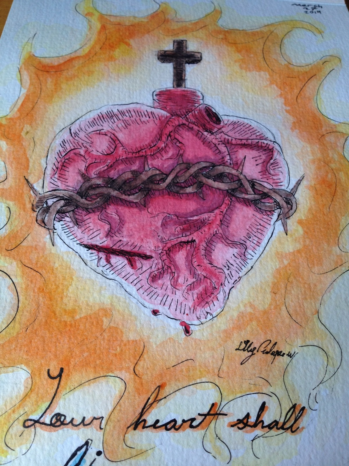 """Your hear shall live forever. """"Your heart shall live forever"""" -Psalm 22:26 join list: WatercolorAndOrInk (17 subs)Mention History I hope everyone's Le"""