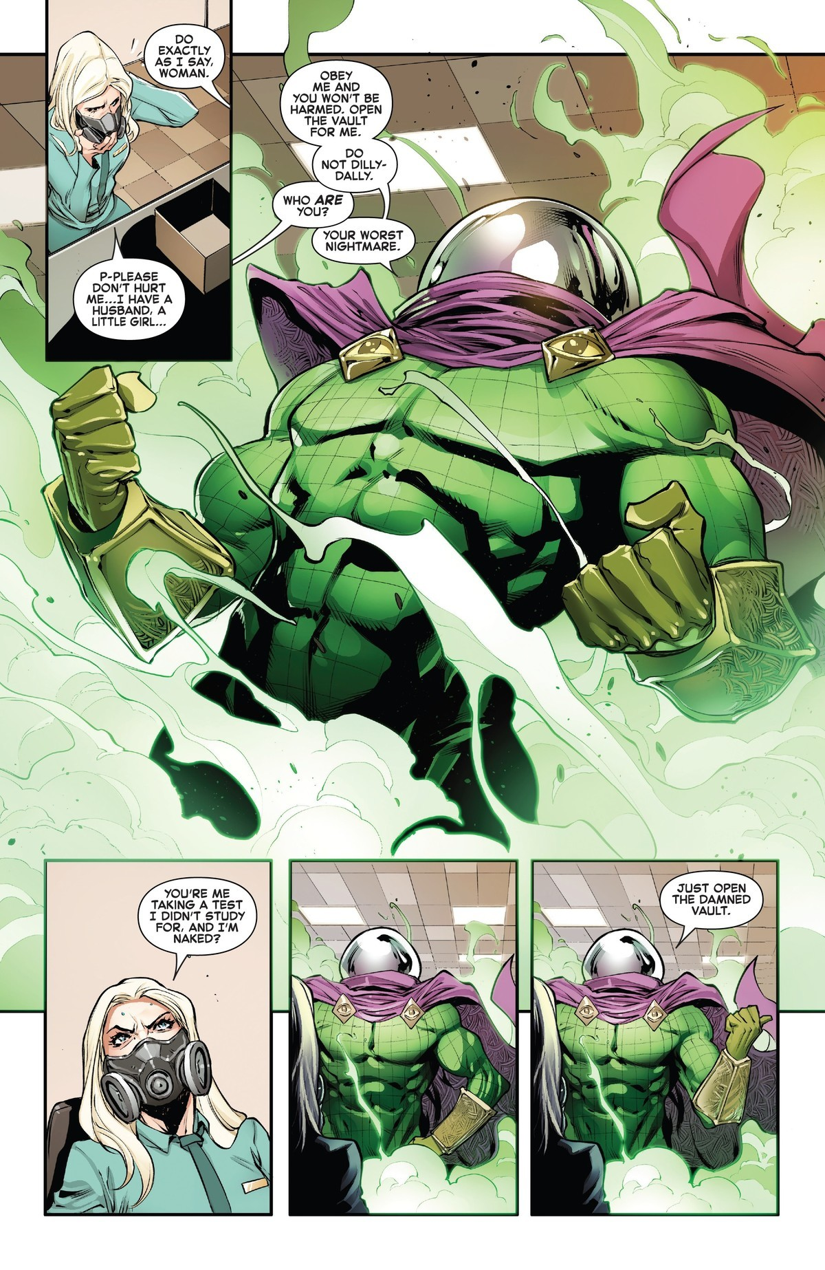 Your Worst htmare. .. The fact that everyone relentlessly sandbags Mysterio at every opportunity fills me with hope for the future of Marvel Comics. It may be an unfounded hope, and