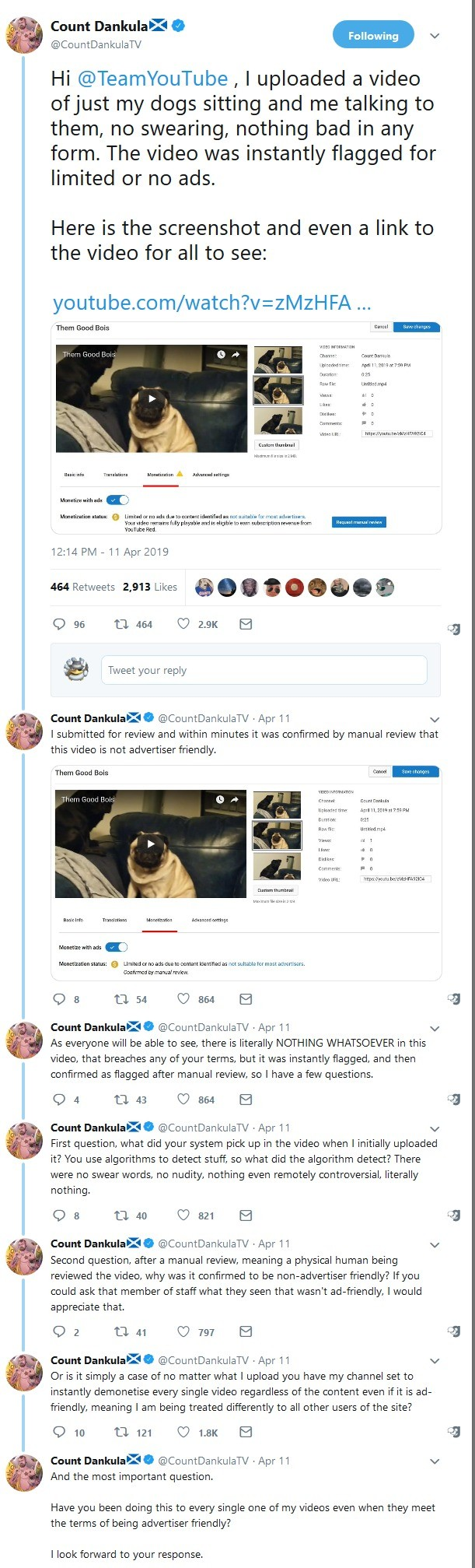 Youtube is still . .. >posts a video of an actual Nazi >wonders why he was flagged
