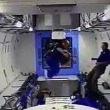 An astronaut in micro-g is stuck