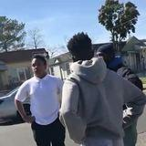Man breaks up a fight and teaches a life lesson