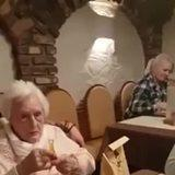 Senile German Granny forgets WWII Ended.