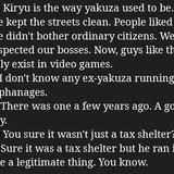 Yakuza reviewing Yakuza