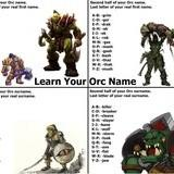 CHOOSE YER ORC NAME
